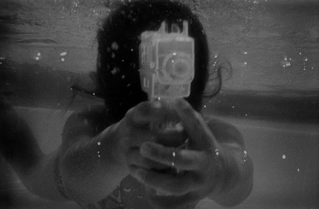 Gun, b/w film, fiber print